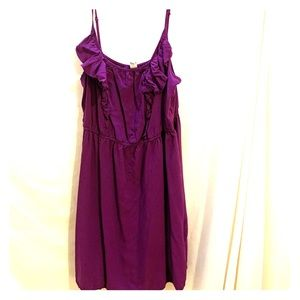 Old Navy Purple mini dress with ruffle detail